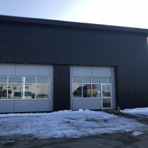 Approx. 2,730 sq. ft. PE Core Alpolic - Colour: TOB BLACK. Approx. 844 sq. ft. PE Core Alpolic - Colour: AGT GREY