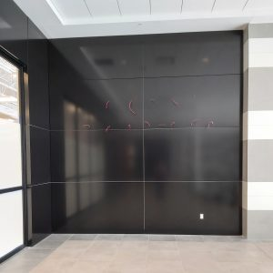 Approx. 1,182 sq. ft. FR Core Reynobond ACM - Colour: ELEGANT BLACK